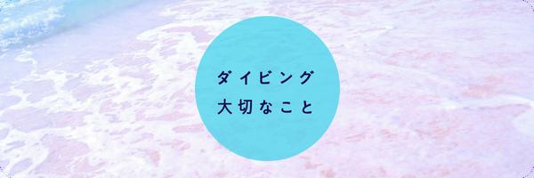 宮古島体験ダイビングの確認事項
