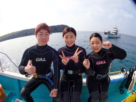 仲良しボート体験ダイビング