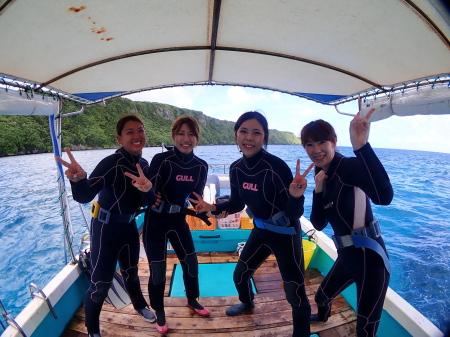 2ボート体験ダイビングは午前コースで楽しもう!