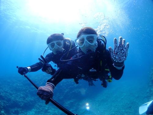 カラ梅雨、青の洞窟ダイビング日和。