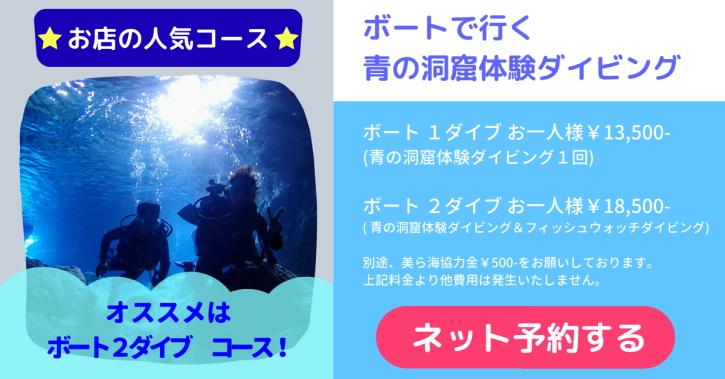 ボート青の洞窟ダイビング予約